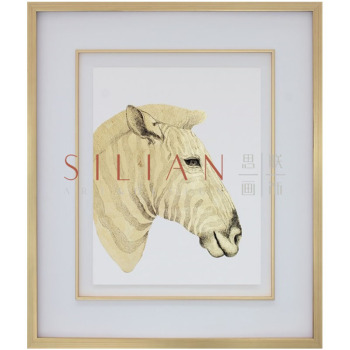 Factory direct sales gold foil pictures framed horse pictures