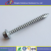 Stainless Steel Hex Flange Head/ Phillips Flat Head Self Drilling ...