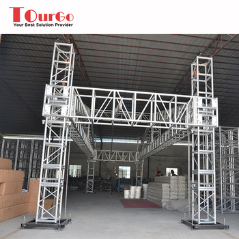 Aluminum Exhibition Backdrop Lighting Truss Stage Roof For Display Tourgo Product On