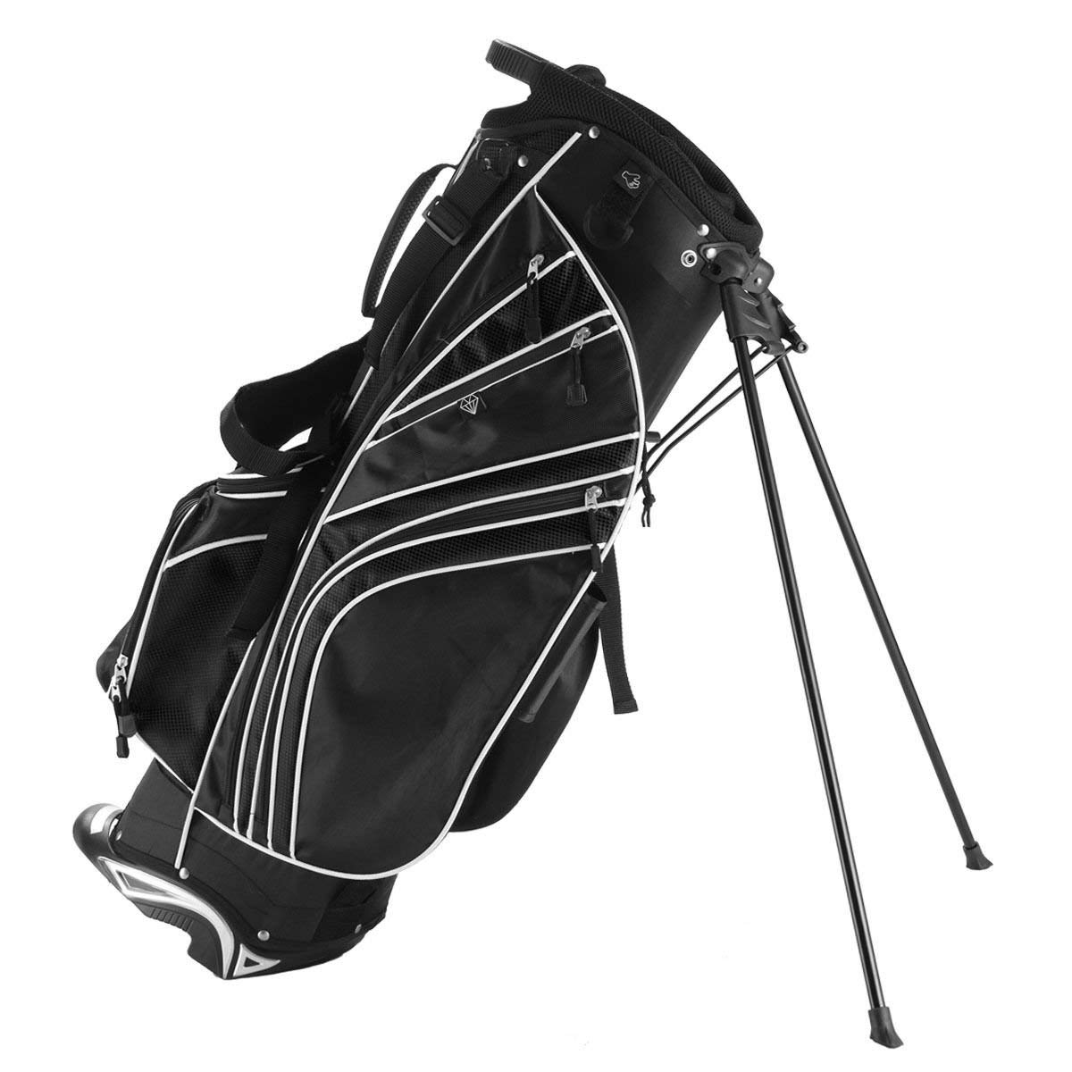 Get Quotations Globe House Products Ghp 32 5 Black 6 Way Divider Polyester Fabric Golf Stand Bag