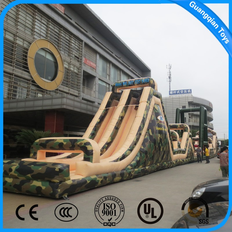 High Quality Outdoor Giant Inflatable Obstacle Course For Adults