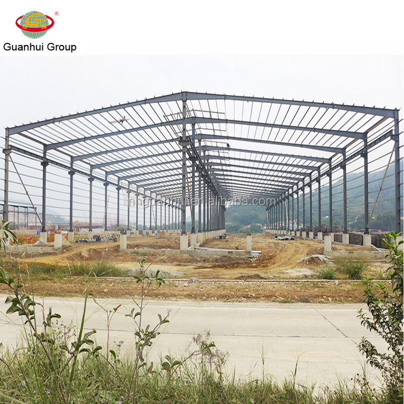 Light weight high strength portal frame steel building with good offer