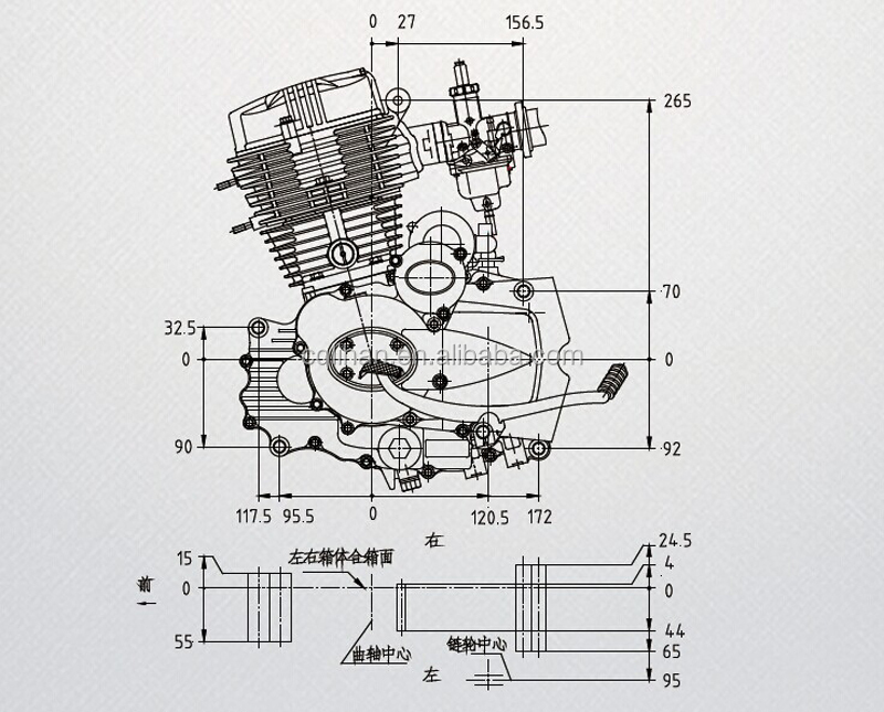 lifan cg250 air-cooled 167fmm engine - buy 167fmm engine ... 6 stroke engine diagram single stroke engine diagram #13