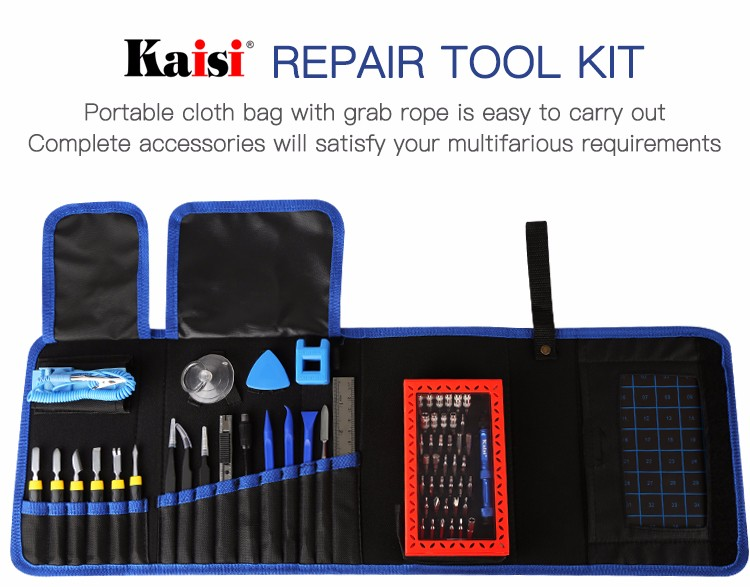 Kaisi Professional Precision Screwdriver Set Mobile Phone Repair Tool Kit With Canvas Bag View Precision Screwdriver Set Kaisi Product Details From Guangzhou Kaisiking Trading Co Ltd On Alibaba Com