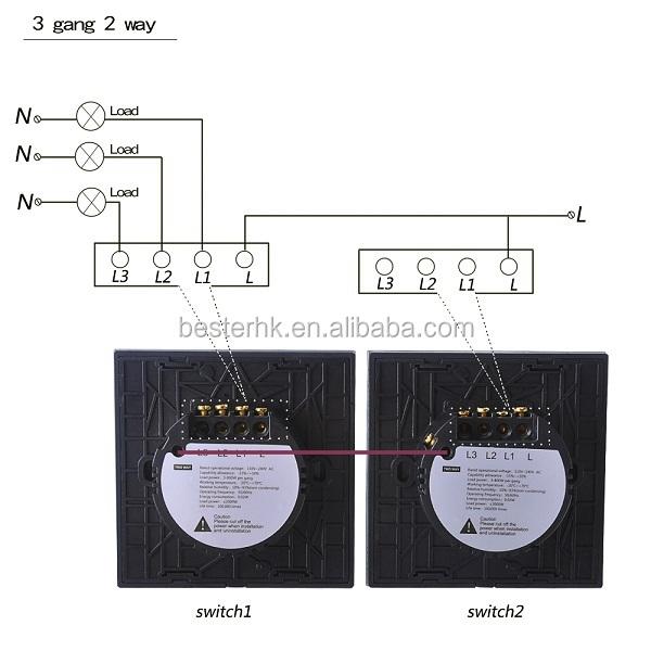 3- Gang 2- Weg Led Touch Lichtschalter,Elektrischen Schalter ...
