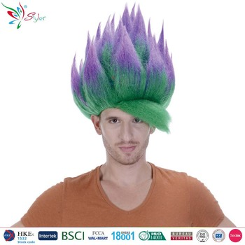 Wholesale Best Quality Green Synthetic Hair Wig Naruto Cosplay Wig