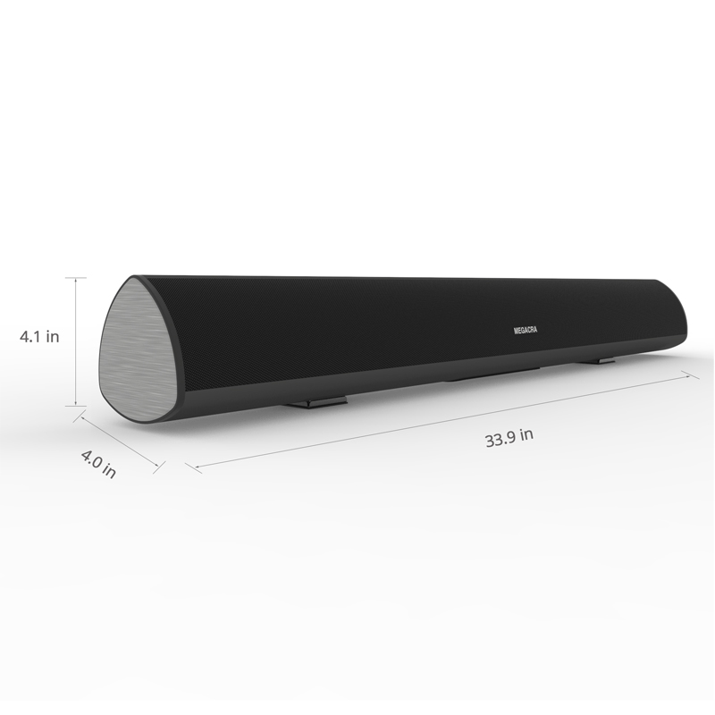 Black 2.0 Home Theatre Soundbar , 34 Inch Surround Sound Bar For LCD TV Remote Control