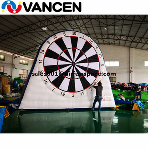 White attractive inflatable football dart outdoor sport game equipment for kids PVC high quality inflatable soccer dart
