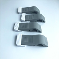 Non-slip Gray Color Solid Plastic Door Stop Wedges with Holders