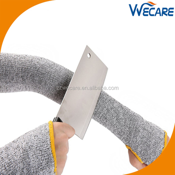 Hppe Level 5 Cut Resistant Food Flex Thumb Hold Forearm Arm Guard Sleeves -  Buy Arm Guard Sleeves,Cut Resistant Sleeves,Arm Sleeves Product on
