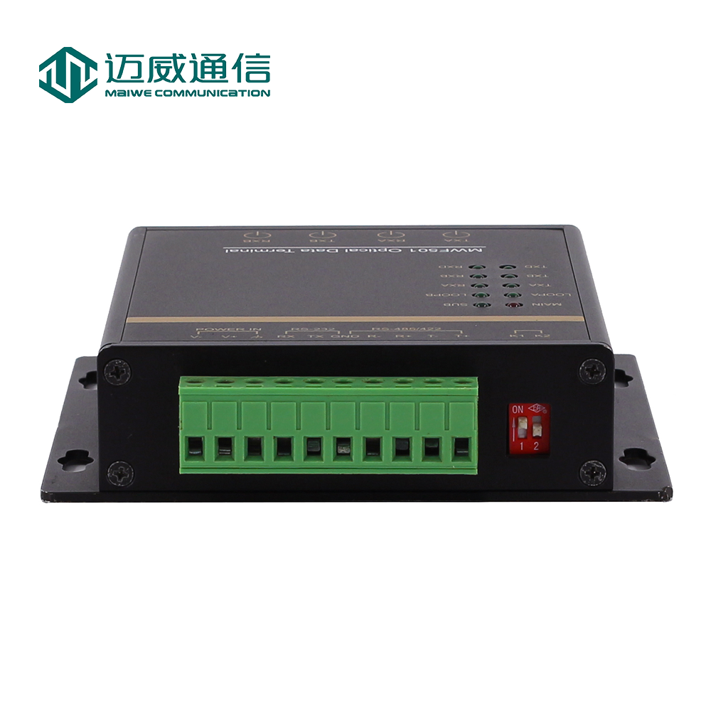Fiber Optic Equipments 1pair Rs485/422 To Optic Fiber Modem Singlemode Sc 20km Rs485/422 To Ethernet Fiber Converter