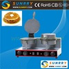 Electric round shape hong kong waffle maker with double heads egg waffle machine (SUNRRY SY-WM25B)