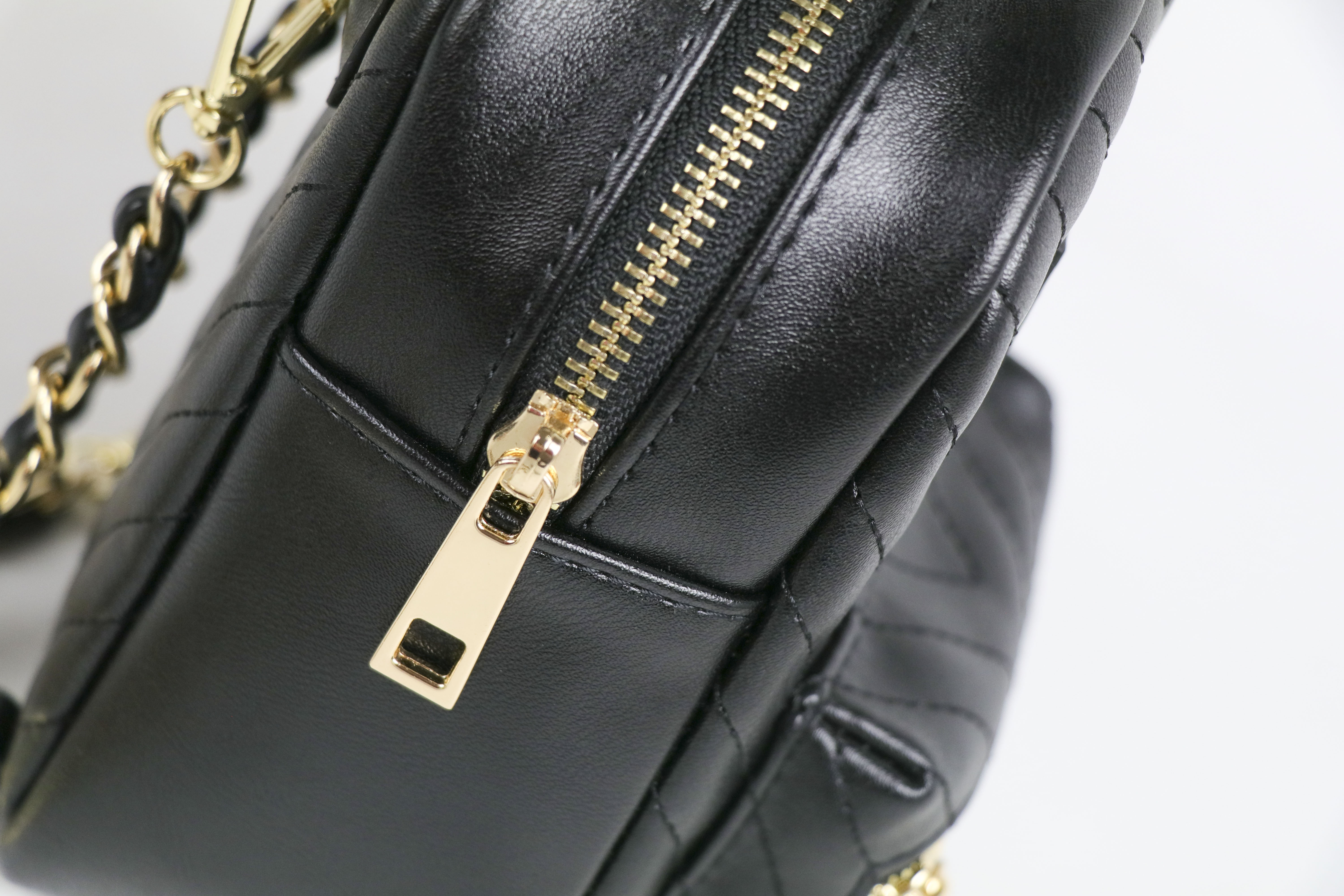Fashion black PU leather school bag backpack for sale
