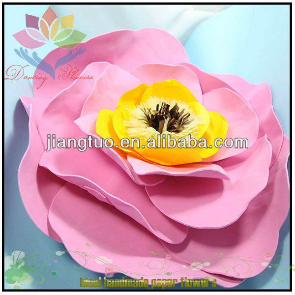 2013 big pink peony wall paper flower
