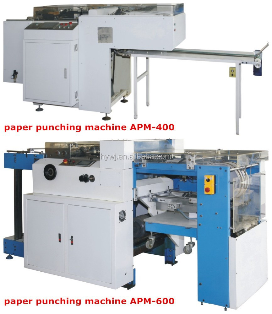 Automatic paper die hole punch machine for book