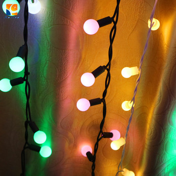 direct linkable color changing led rgb ball string christmas xmas lights