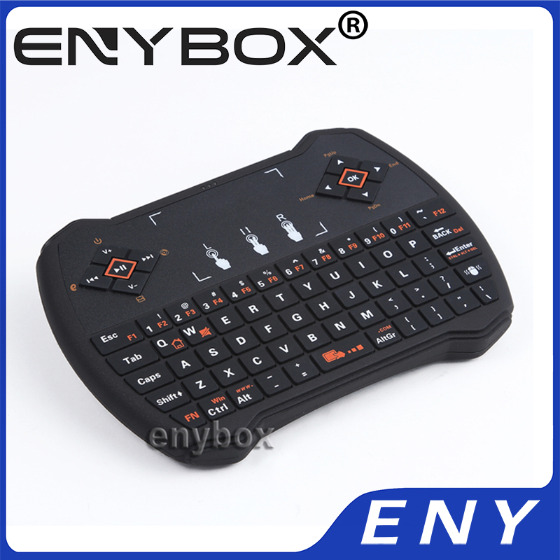 2.4G Wireless I9 Wireless Keyboard Built-in rechargable lithium-ion battery I9 Mini Remote Control with Touchpad