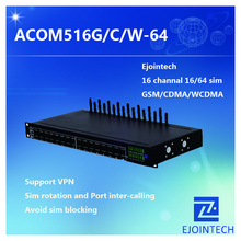 16 ports ejointech wcdma goip gateway for wireless phone with fake ringback