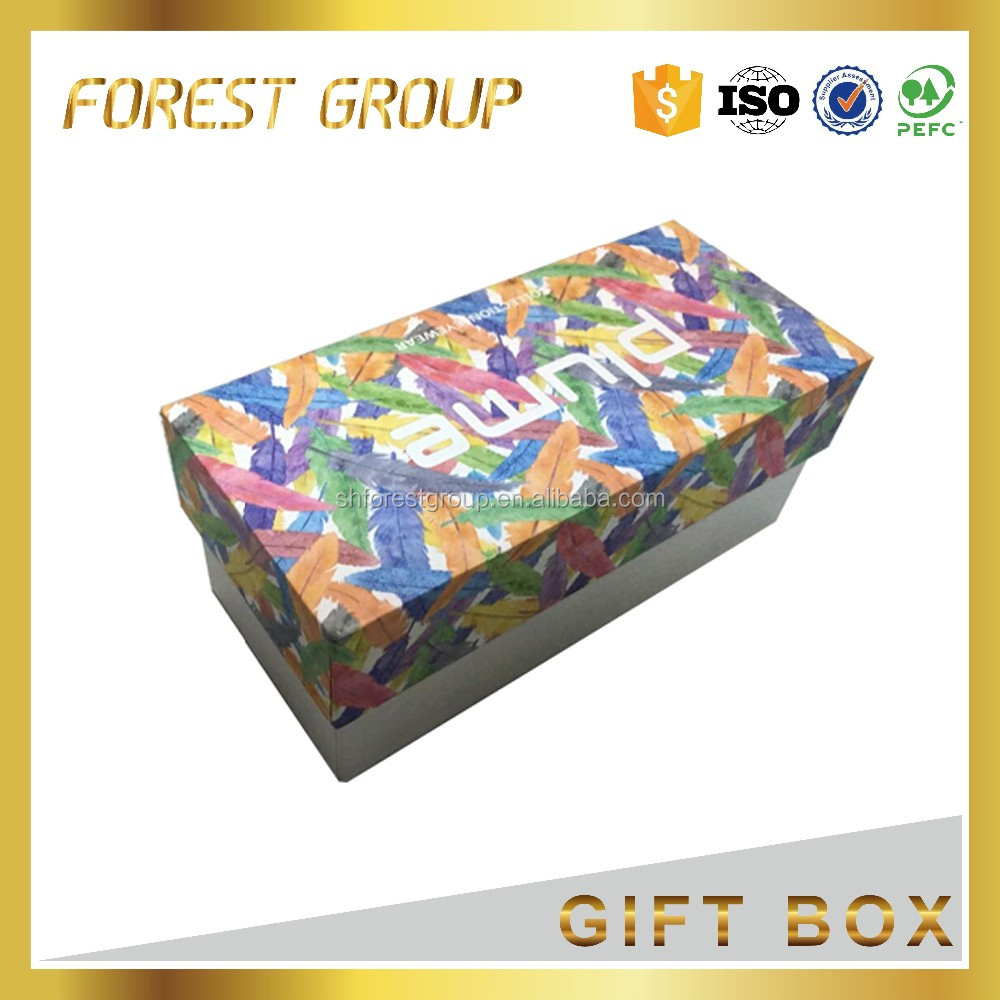 CMYK offset printed collapsible book storage box packaging