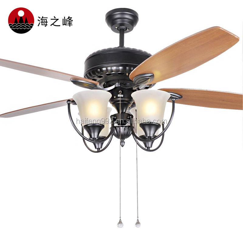 52 inch wooden fan blade ceiling fans