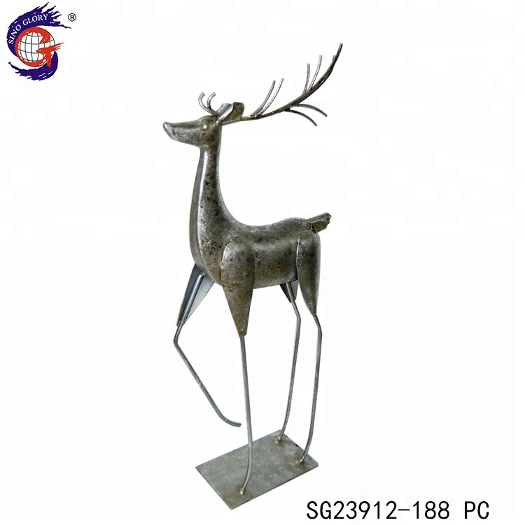 Lovely Mini Sika Deer Christmas Figurine Home Decor Resin Artware Crafts Gifts