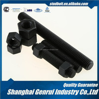Hardened and Tempered M80 grade 5 black zinc full threaded UNC stainless steel earth stud bolt welding