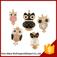 New coming unique design captivating cute owl shape necklace pendant