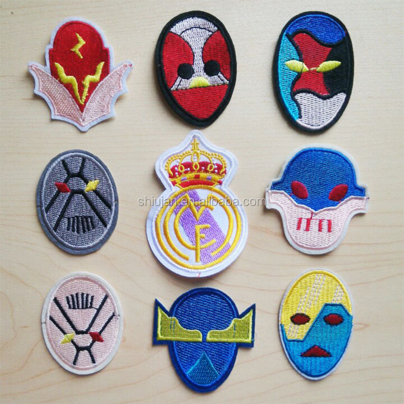 Factory sale custom made superman mask embroidery patches