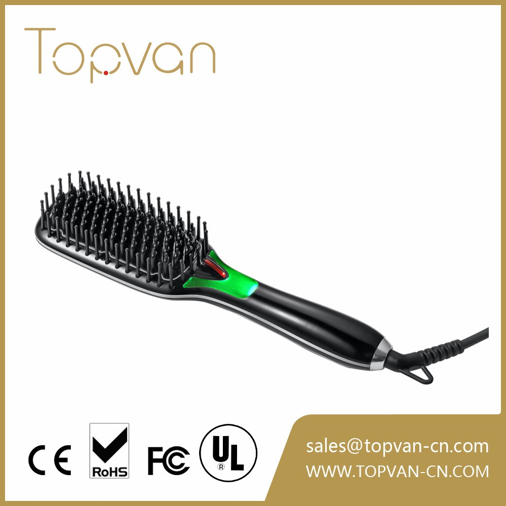 Customization Logo ceramic hair straightening brush