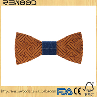 2017 High Quality Bamboo Wood Bow Tie For Men Classic Wood Bowties Neckwear