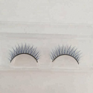 hot sale mixed color eyelashes wholesale price 3d synthetic fiber eyelashes with free sample