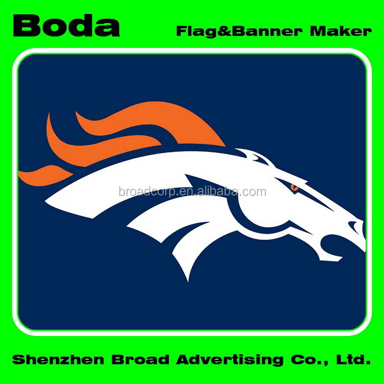 4x6inch Polyester Nfl Denver Broncos Hand Waving Flag