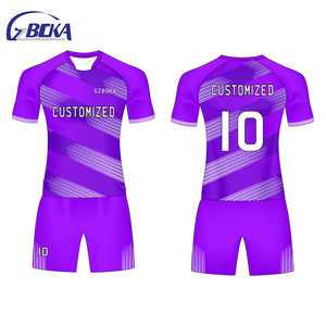 Hot sale custom t shirt brazil official soccer uniforms for women purple jersey shirt kit football