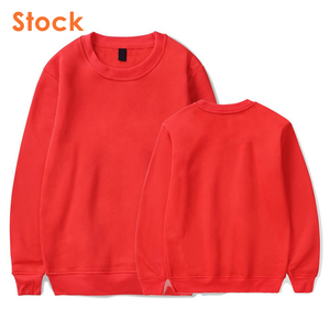 SIMPLE DESIGN CASUAL BLANK CREWNECK FLEECE SWEATSHIRT