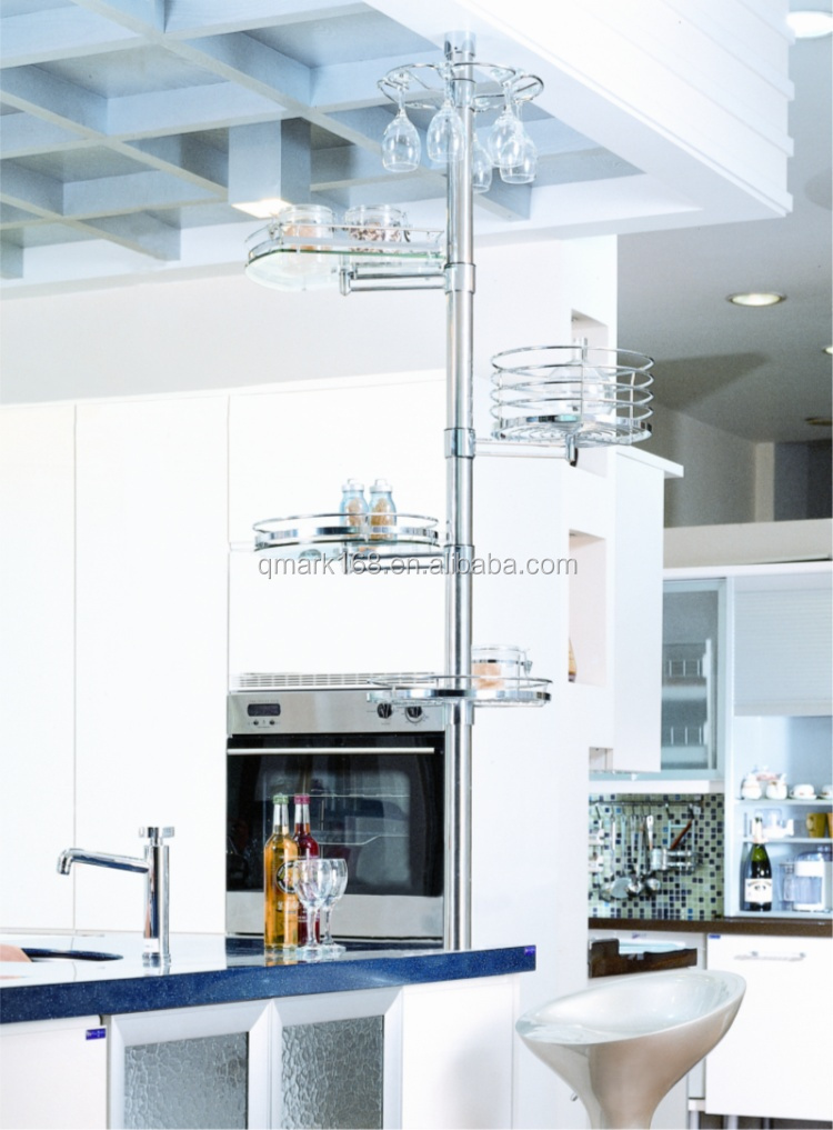 Metal Kitchen Bar Pole Wire Storage Shelving Rack/metal Wire Display ...
