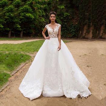 On445 Lace Mermaid Wedding Dresses Backless Bridal Dresses 2016 ...