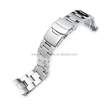 22mm Super Oyster Type II watch band for skx Diver Watches, Straight End