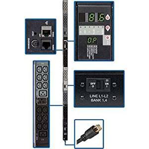 Tripp Lite PDU3VN3L2130 PDU3VN3L2130 Monitored PDU 208V 3-Phase L21-30P 0U RM 30xC13 6xC19