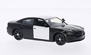 Dodge Charger, undecorated Police vehicle , black/white, 2012, Model Car, Ready-made, First Response 1:43