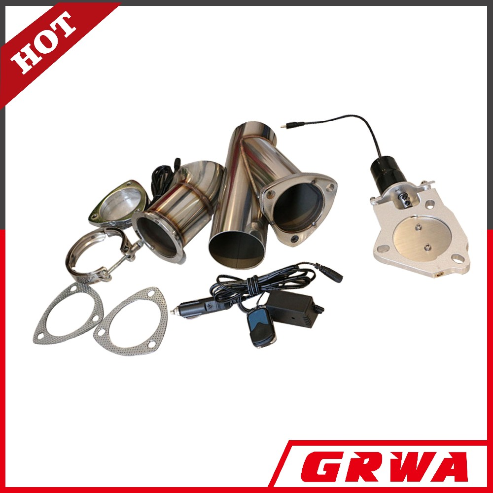 GRWA Remote exhaust dump Y-pipe/E-cut out valve system electric exhaust cutout