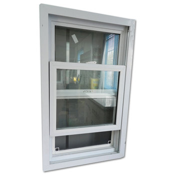 2020 Modern design plastic sliding vertical window J-channel UPVC window grills design pictures