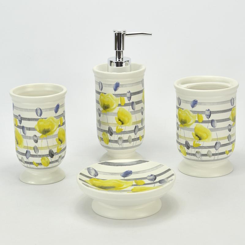 Grossiste accessoires salle de bain jaune Acheter les meilleurs