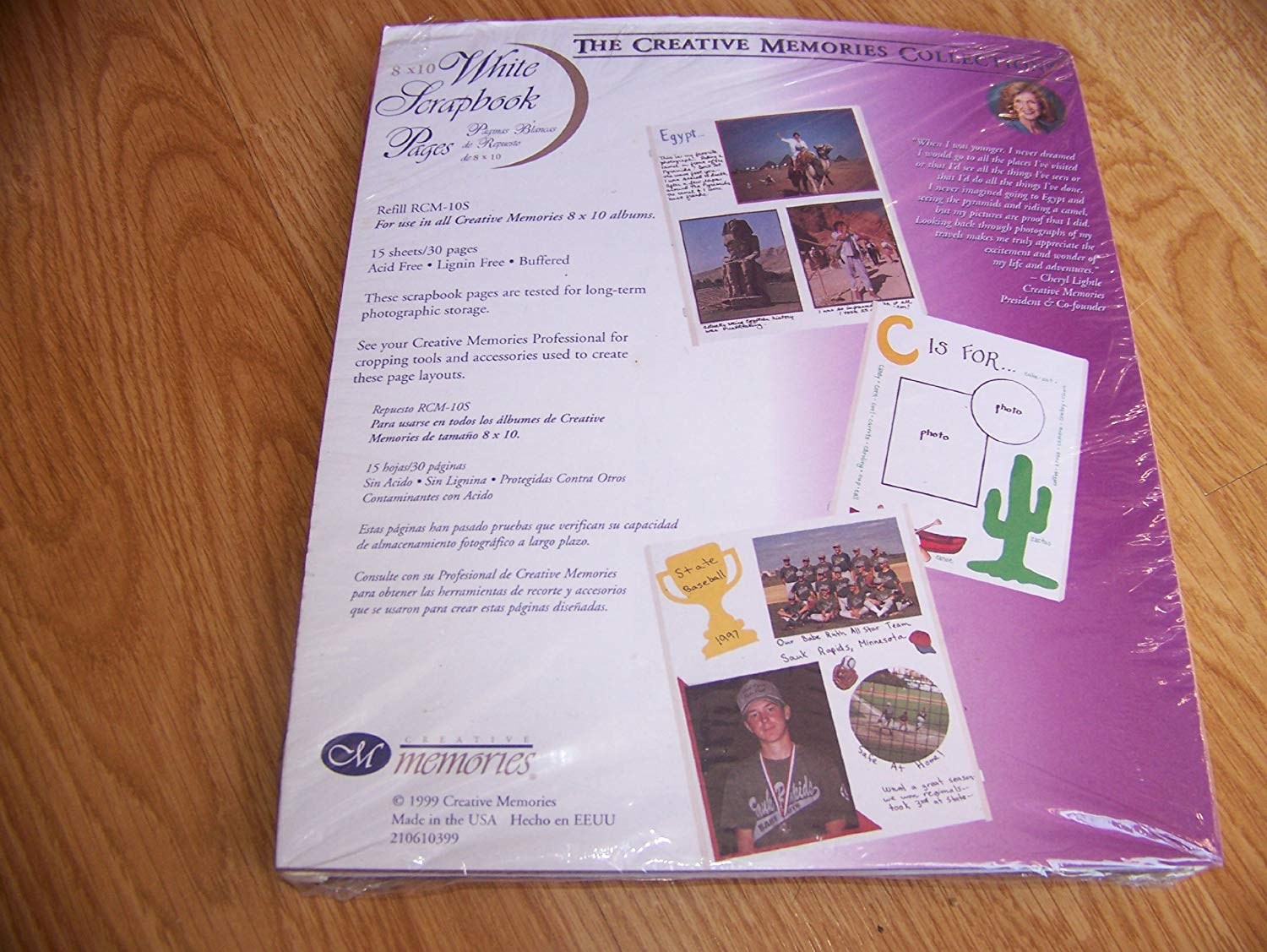 """Creative Memories 8 x 10"""" white scrapbook pages for open spine albums RCM-10S"""