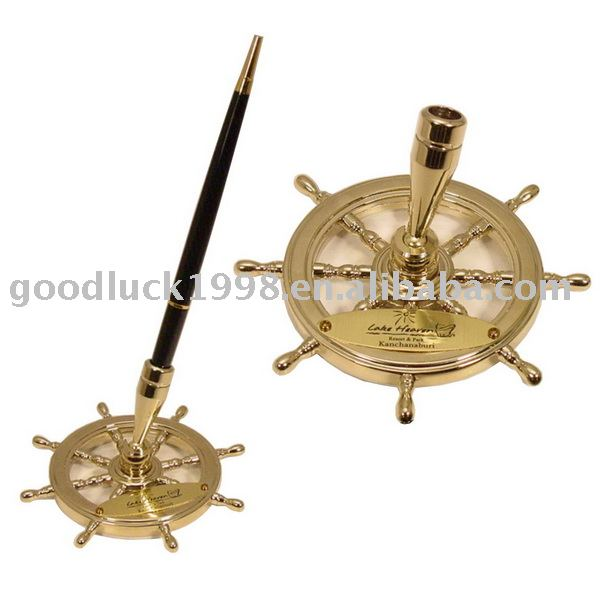 Ship Wheel Pen Holder