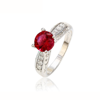 13025 top quality fashion jewelry diamond engagement ruby ring