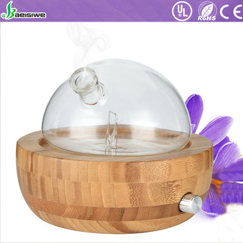 2018 newest aromatherapy essential oil diffuser glass bamboo waterless heatless aromatherapy diffuser