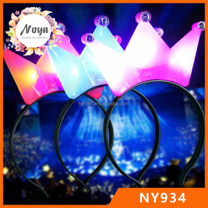 Cheap plastic crown led headbands for party