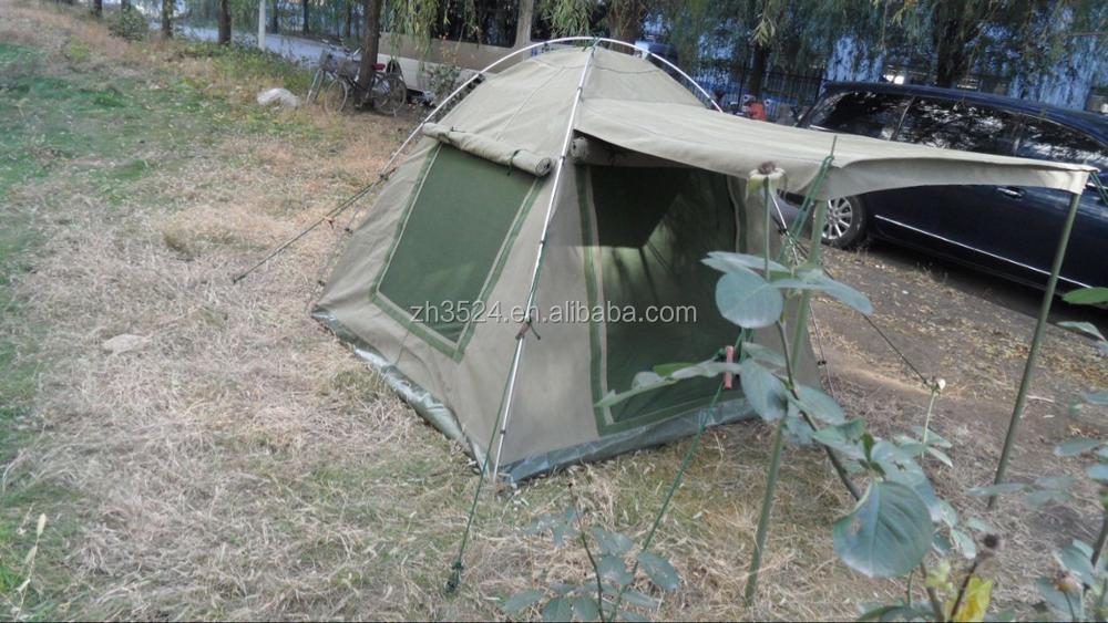 ripstop canvas top cover 4-sleeper Gemsbok safari bow tent export & Ripstop Canvas Top Cover 4-sleeper Gemsbok Safari Bow Tent Export ...