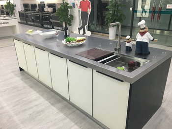 In Acciaio Inox A Forma Di L Disegno Modulare Mobili Da Cucina Con ...