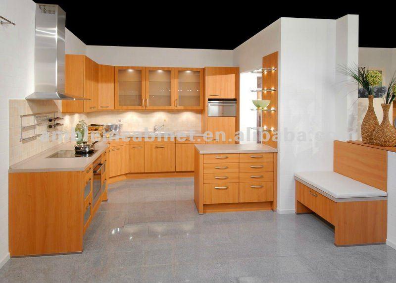 Gabinete de madera melamina cocina modelo cocinas for Modelos de gabinetes de cocina en madera